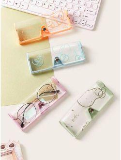 1pc Random Transparent Glasses Case