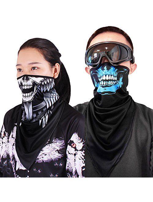 Motorcycle Helmets Liner Neck Gaiter Quick-Dry Half Masks Balaclava Ski Mask