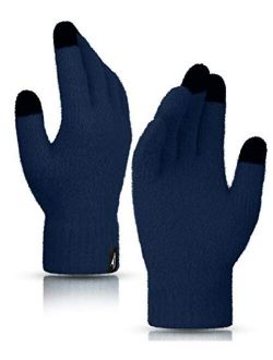 Winter Touchscreen Gloves Knit Warm Thick Thermal Soft Comfortable Wool Lining Elastic Cuff Texting For Women Men