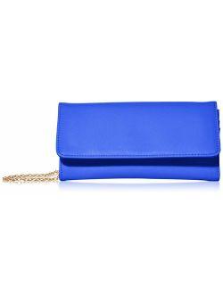 Women's Faux Saffiano Leather Bifold Cross Body Clutch Wallet