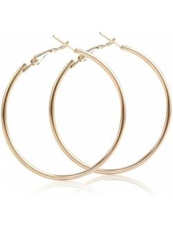 IDB Classic Stainless Steel Big Hoop Earrings - 2.32