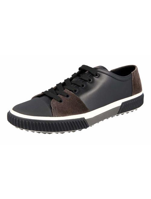 Prada Men's 4E3058 OSD F0002 Leather Sneaker