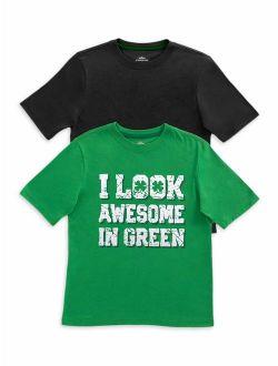 Boys 4-18 & Husky St. Patrick's Day Short Sleeve Graphic T-shirt, 2-pack