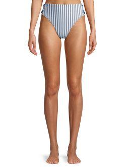 Women's Mini Stripe Printed Swimsuit Bottom
