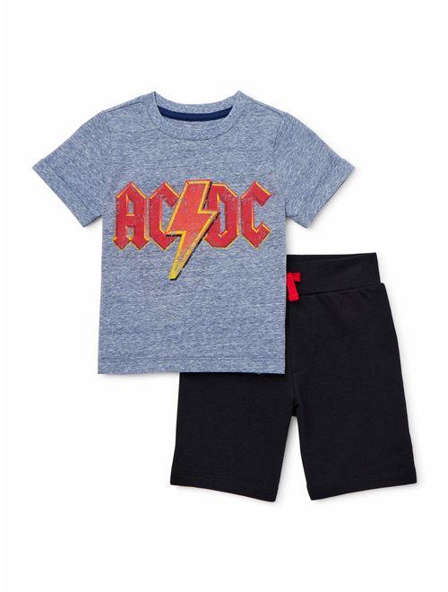 AC/DC Baby Toddler Boy T-shirt & Shorts, 2pc Outfit Set