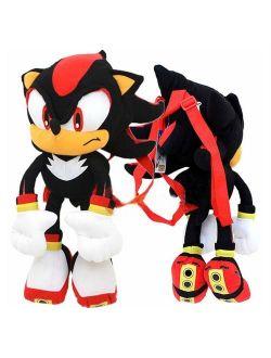 Sonic The Hedgehog 24 Plush Backpack-Black