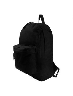 K-Cliffs Wholesale Pack of 36 Classic Backpacks in Black