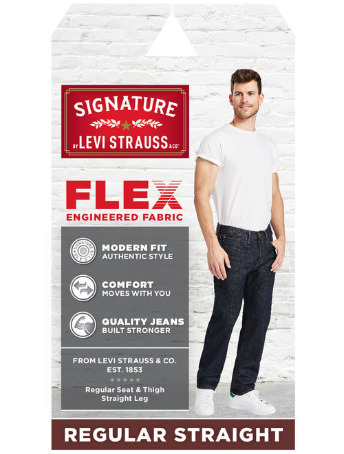 Signature by Levi Strauss & Co. Men's Big and Tall S41 Regular Fit Jeans