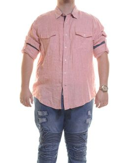 Men' Slim Fit Linen Stripe Sportshirt Size S