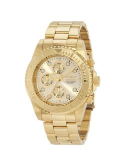 Men's 1774 Pro Diver Gold Tone Stainless Steel Chronograph Dive Watch