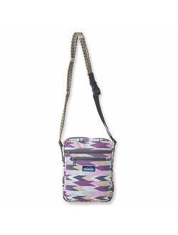 KAVU Zippit Crossbody Bag Cotton Purse With Adjustable Rope Strap