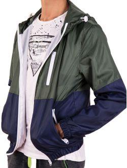 Mens Hooded Waterproof Windbreaker Rain Jacket Comfortable Men Leisure Outwear(l-3xl To Choose) Green