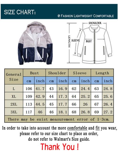LELINTA Mens Hooded Waterproof Windbreaker Rain Jacket Comfortable Men Leisure Outwear(L-3XL to Choose) Green