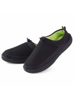 Men's Slippers Memory Foam House Shoes Indoor Outdoor Adjustable Breathable Closed Back