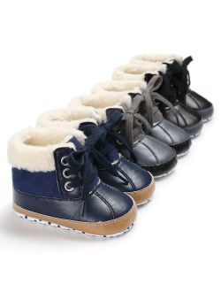Infant Toddler Shoes Baby Boy Ankle Snow Boots Crib Shoes Anti-slip Sneakers