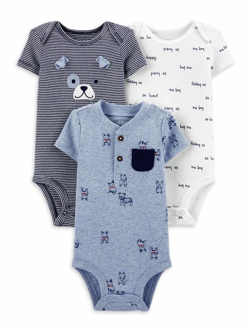 Child of Mine by Carter's Baby Boy Short Sleeve Bodysuits, 3-Pack