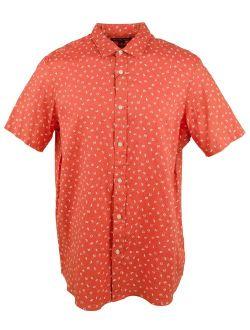 Men's Linen Button Front Short Sleeve Shirt-s-m