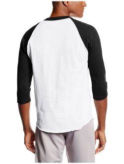 Men's 3/4 Raglan Casual Sport T-Shirts
