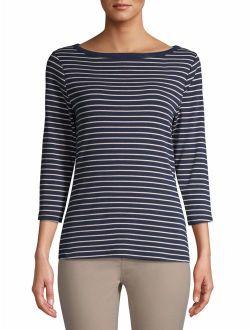 Women's 3/4 Sleeve Boatneck T-shirt