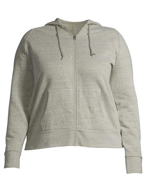 Time and Tru Women's Zip Up Hoodie Sweatshirt
