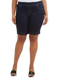 Women's Stretch Denim Pull-on 2 Pocket Short