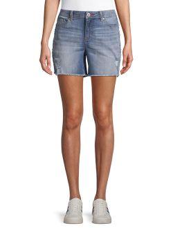Alex Deconstructed Stripe Shorts Women's