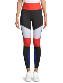 Women's Active Performance Flex Tech Colorblocked Leggings