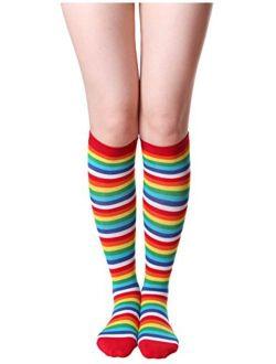 HASLRA Women's Knee High Socks 1-3 Pairs
