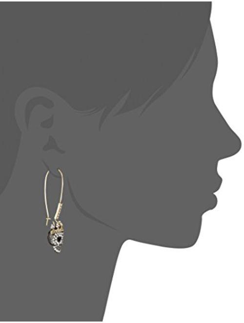 Betsey Johnson Dark Shadows Skull Earrings