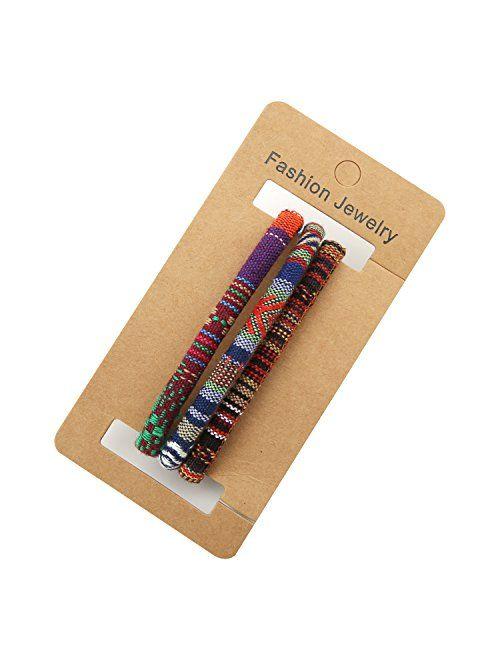 HZMAN Mix 6 Wrap Bracelets Men Women, Hemp Cords Ethnic Tribal Bracelets Wristbands