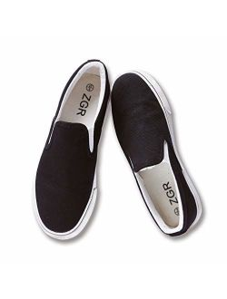 ZGR Women's Slip On Canvas Loafer Shoes Fashion Low Cut Sneakers