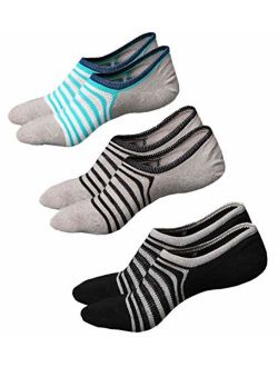 No Show Socks Women Ankle Low Cut Socks Invisible Non Slip Footies Liner for Sneakers Boat Shoes 3 to 6 Pairs