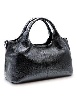 Womens Genuine Leather Handbags Tote Bag Shoulder Bag Top Handle Satchel Designer Ladies Purse Hobo Crossbody Bags