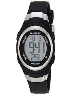 Sport Women's Digital Chronograph Resin Strap Watch, 45/7034