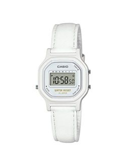 Women's Classic Quartz Watch With Leather-synthetic Strap, White, 14.8 (model: La-11wl-7acf)