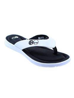 Womens Memory Foam Thong Flip Flop Sandal