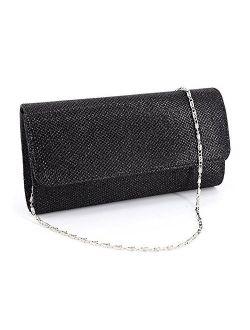 IBELLA Women Glitter Clutch Purse Evening Bag Wedding Party Prom Handbag
