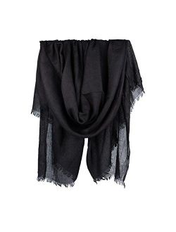 Iristide Women Summer Scarfs Large Long Lightweight Linen Beach Gauze Shawl Wrap 7543
