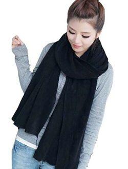 Agio Women's Warm Long Shawl Winter Warm Large Scarf Pure Color