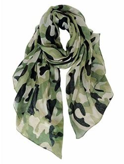GERINLY Scarves - Lightweight Fall Winter Travel Scarf Camouflage Print Shawl Wrap