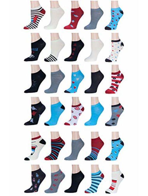 30-PAIR!!(0.79 a PAIR) Womens Neon No-Show SocksSolid & PatternedSize 9-11Fun & ComfortableIdeal Gift For Girls & Women