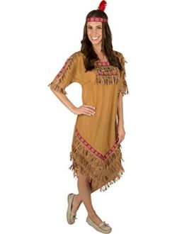 Kidcostumes Adult Native American Indian Woman Costume with Headband