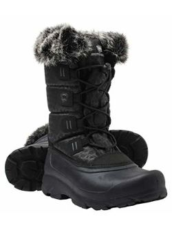 ArcticShield Women's Polar Waterproof Insulated Durable Cold Rated Winter Snow Boots