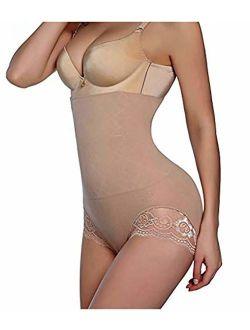 Bility Women Body Shaper Butt Lifter Hi-waist Panty Seamless Waist Trainer Tummy Control Shapewear