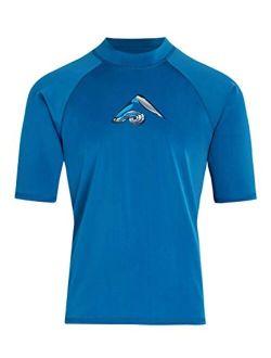 Men's Mercury Upf 50+ Short Sleeve Sun Protective Rashguard Swim Shirt