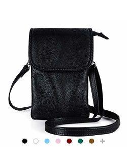 befen Cell Phone Crossbody Wallet Purse, Women Small Leather Crossbody Bag