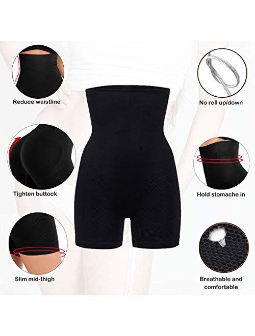 Lelinta Tummy Control Body Shaper Seamless Thigh Slimming Boyshort Breathable Slip Shapewear for Women