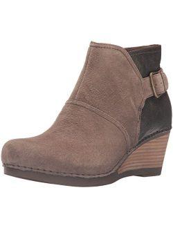 Brown Shirley High Heel Wedges Boot