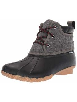 Women's Pond-lil Puddles-mid Quilted Lace Up Duck Boot With Waterproof Outsole Rain