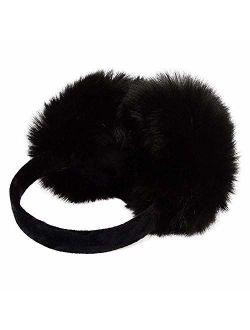 Pusheng Womens/Girls Cute Warm Faux Furry Earmuffs Winter Outdoor Adjustable EarMuffs for Christmas,New Year's Day
